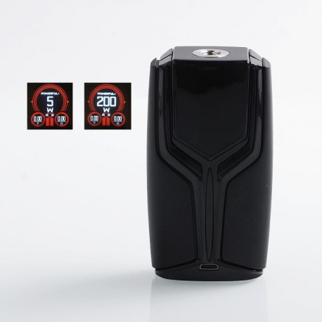 Authentic Wotofo Flux 200W VW Variable Wattage Box Mod - Black, Zinc Alloy, 5~200W, 2 x 18650
