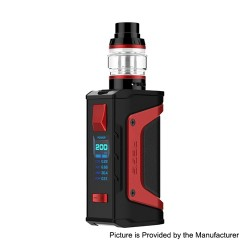 Authentic GeekVape Aegis Legend 200W TC VW Box Mod + Aero Mesh Version Tank Kit - Red Trim, 5~200W, 2 x 18650, 5ml