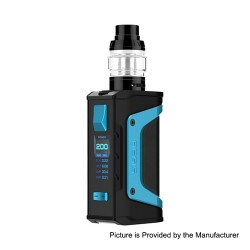 Authentic GeekVape Aegis Legend 200W TC VW Box Mod + Aero Mesh Version Tank Kit - Azure Trim, 5~200W, 2 x 18650, 5ml
