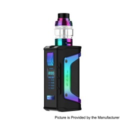 Authentic GeekVape Aegis Legend 200W TC VW Box Mod + Aero Mesh Version Tank Kit - Rainbow Trim, 5~200W, 2 x 18650, 5ml
