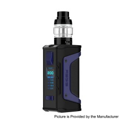 Authentic GeekVape Aegis Legend 200W TC VW Box Mod + Aero Mesh Version Tank Kit - Navy Blue Trim, 5~200W, 2 x 18650, 5ml