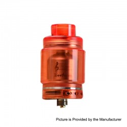 Authentic Ystar Beethoven RTA Rebuildable Tank Atomizer - Red, Resin + Stainless Steel, 5.5ml, 24.7mm Diameter