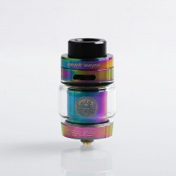 Authentic GeekVape Zeus Dual RTA Rebuildable Tank Atomizer Standard Edition - Rainbow, Stainless Steel, 4ml, 26mm Diameter