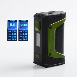 Authentic GeekVape Aegis Legend 200W TC VW Variable Wattage Box Mod - Green Trim, 5~200W, 2 x 18650
