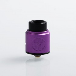 Authentic Advken Breath RDA Rebuildable Dripping Atomizer w/ BF Pin - Purple, Aluminum + Stainless Steel, 24mm Diameter