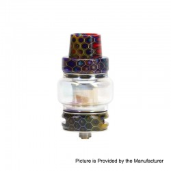 Authentic Horizon Falcon Sub Ohm Tank Clearomizer - Rainbow, Stainless Steel + Resin, 0.16 Ohm, 7ml, 25mm Diameter