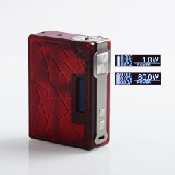 Authentic Tesla DB 219W TC VW Variable Wattage Box Mod - Red, PEI, 2 x 18650