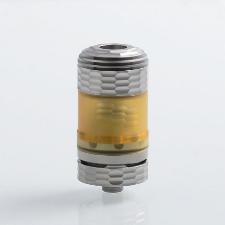 Hussar The End Style RTA Rebuildable Tank Atomizer - Silver, 316 Stainless Steel + PEI, 3.5ml, 22mm Diameter