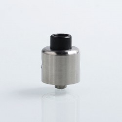 YFTK Convergent Style RDA Rebuildable Dripping Atomizer w/ BF Pin - Silver, 316 Stainless Steel, 22mm Diameter