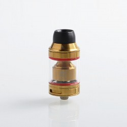 Authentic Hugsvape Lotus RTA Rebuildable Tank Atomizer - Gold, Stainless Steel, 2ml / 5ml, 24mm Diameter