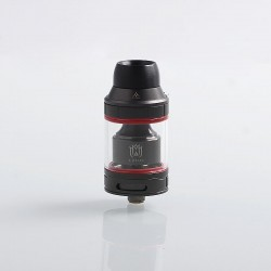 Authentic Hugsvape Lotus RTA Rebuildable Tank Atomizer - Gun Metal, Stainless Steel, 2ml / 5ml, 24mm Diameter