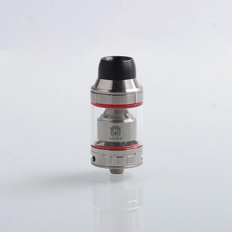 Authentic Hugsvape Lotus RTA Rebuildable Tank Atomizer - Silver, Stainless Steel, 2ml / 5ml, 24mm Diameter