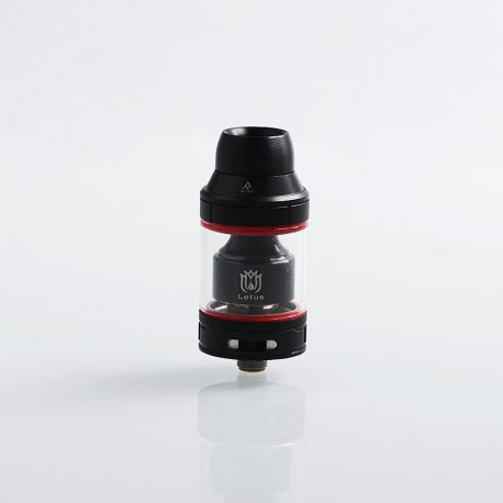Authentic Hugsvape Lotus RTA Rebuildable Tank Atomizer - Black, Stainless Steel, 2ml / 5ml, 24mm Diameter