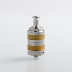 Authentic VXV Soulmate RTA Rebuildable Tank Atomizer - Silver, Stainless Steel, 24mm Diameter