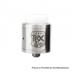 Authentic Oumier TRX RDA Rebuildable Dripping Atomizer - Silver, Stainless Steel, 24mm Diameter