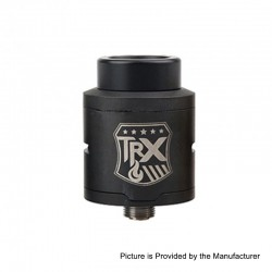Authentic Oumier TRX RDA Rebuildable Dripping Atomizer - Black, Stainless Steel, 24mm Diameter