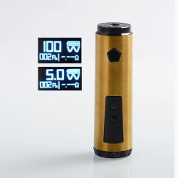 Authentic IJOY Saber 100W VW Variable Wattage Mod - Gold, 1 x 18650 / 20700