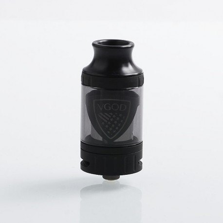 Authentic VGOD Pro Sub Ohm Tank Clearomizer - Black, Stainless Steel, 0.2 Ohm, 5ml, 24mm Diameter