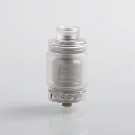 Authentic Ystar Beethoven RTA Rebuildable Tank Atomizer - White, Resin + Stainless Steel, 5.5ml, 24.7mm Diameter