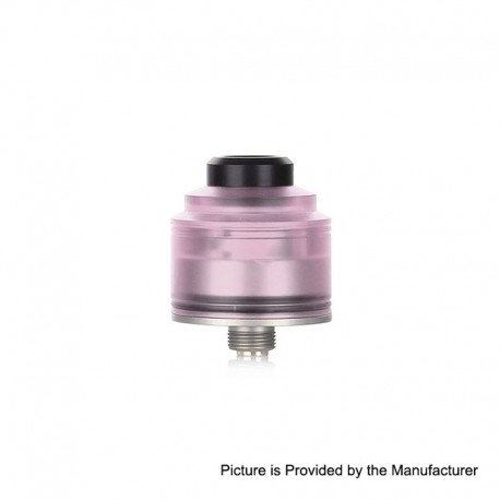 Authentic GAS Mods Nixon S RDA Rebuildable Dripping Atomizer w/ BF Pin - Pink + Silver, PMMA + Stainless Steel, 22mm Diameter