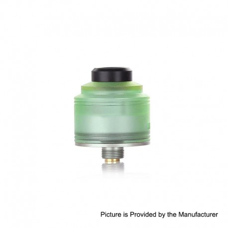 Authentic GAS Mods Nixon S RDA Rebuildable Dripping Atomizer w/ BF Pin - Green + Silver, PMMA + Stainless Steel, 22mm Diameter