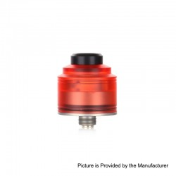 Authentic GAS Mods Nixon S RDA Rebuildable Dripping Atomizer w/ BF Pin - Red + Silver, PMMA + Stainless Steel, 22mm Diameter