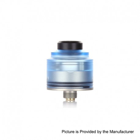 Authentic GAS Mods Nixon S RDA Rebuildable Dripping Atomizer w/ BF Pin - Blue + Silver, PMMA + Stainless Steel, 22mm Diameter