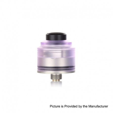 Authentic GAS Mods Nixon S RDA Rebuildable Dripping Atomizer w/ BF Pin - Purple + Silver, PMMA + Stainless Steel, 22mm Diameter