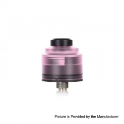 Authentic GAS Mods Nixon S RDA Rebuildable Dripping Atomizer w/ BF Pin - Pink + Black, PMMA + Stainless Steel, 22mm Diameter