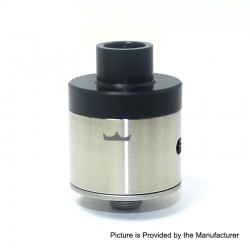 SXK Monarchy Style RDA Rebuildable Dripping Atomizer w/ BF Pin - Silver, 316 Stainless Steel, 22mm Diameter