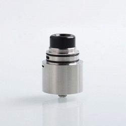 Authentic Cthulhu Zathog RDA Rebuildable Dripping Atomzier w/ BF Pin - Silver, Stainless Steel, 30mm Diameter