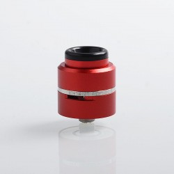 Layercake CSMNT V2 Style RDA Rebuildable Dripping Atomizer w/ BF Pin - Red, Aluminum + Stainless Steel, 24mm Diameter