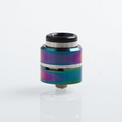 Layercake CSMNT V2 Style RDA Rebuildable Dripping Atomizer w/ BF Pin - Rainbow, Aluminum + Stainless Steel, 24mm Diameter