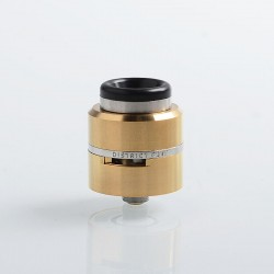 Layercake CSMNT V2 Style RDA Rebuildable Dripping Atomizer w/ BF Pin - Gold, Aluminum + Stainless Steel, 24mm Diameter