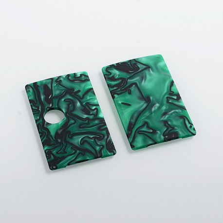 SXK Replacement Front + Back Cover Panel for BB Style Box Mod - Green, Resin