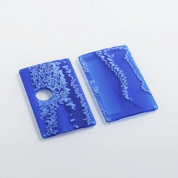 SXK Replacement Front + Back Cover Panel for BB Style Box Mod - Blue, Resin
