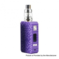 Authentic Eleaf Saurobox 220W TC VW Variable Wattage Box Mod + ELLO Duro Tank Kit - Purple, 2 x 18650, 6.5ml
