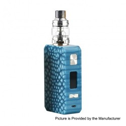 Authentic Eleaf Saurobox 220W TC VW Variable Wattage Box Mod + ELLO Duro Tank Kit - Blue, 2 x 18650, 6.5ml