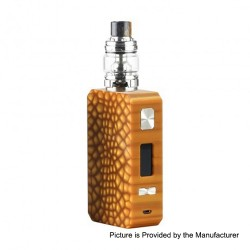 Authentic Eleaf Saurobox 220W TC VW Variable Wattage Box Mod + ELLO Duro Tank Kit - Amber, 2 x 18650, 6.5ml