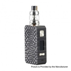 Authentic Eleaf Saurobox 220W TC VW Variable Wattage Box Mod + ELLO Duro Tank Kit - Black, 2 x 18650, 6.5ml