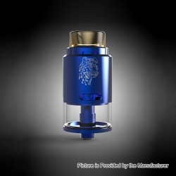 Authentic 5GVape Leopard RDTA Rebuildable Dripping Tank Atomizer - Blue, Stainless Steel, 4ml, 24mm Diameter