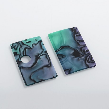 SXK Replacement Front + Back Cover Panel for BB Style Box Mod - Purple + Green, Resin