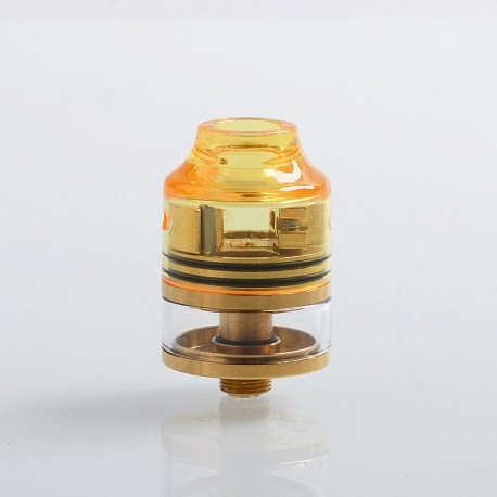 Authentic Oumier WASP Nano RDTA Rebuildable Dripping Tank Atomizer - Gold, Stainless Steel + Glass, 2ml, 22mm Diameter