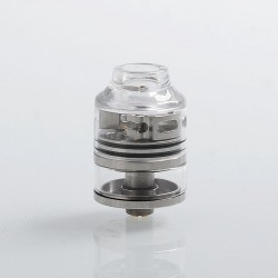 Authentic Oumier WASP Nano RDTA Rebuildable Dripping Tank Atomizer - Silver, Stainless Steel + Glass, 2ml, 22mm Diameter