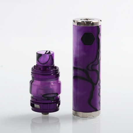 Authentic Eleaf iJust 3 80W 3000mAh Mod + ELLO Duro Tank Kit New Acrylic Version - Purple, 6.5ml, 0.15 / 0.2 Ohm