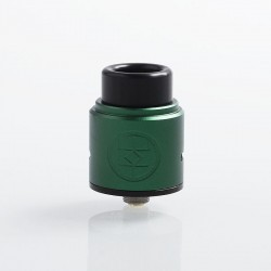 Authentic Advken Breath RDA Rebuildable Dripping Atomizer w/ BF Pin - Green, Aluminum + Stainless Steel, 24mm Diameter