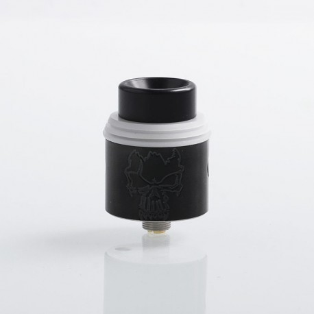 Redemption Style RDA Rebuildable Dripping Atomizer - Black, Stainless Steel, 24mm Diameter