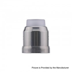 Authentic Wotofo 22mm Conversion Cap for Recurve RDA - Gun Metal