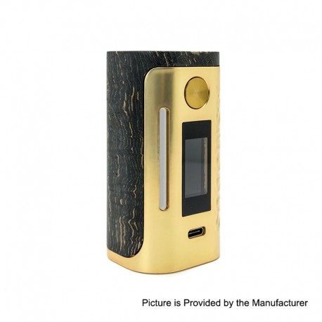 Authentic Asmodus Lustro 200W Touch Screen TC VW Variable Wattage Box Mod Kodama Edition - Gold, 5~200W, 2 x 18650
