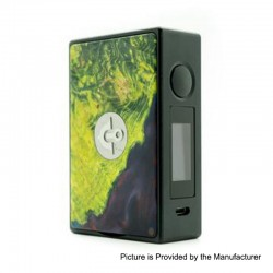 Authentic Asmodus EOS 180W Touch Screen TC VW Variable Wattage Box Mod - Green, Aluminum + Stabilized Wood, 5~200W, 2 x 18650